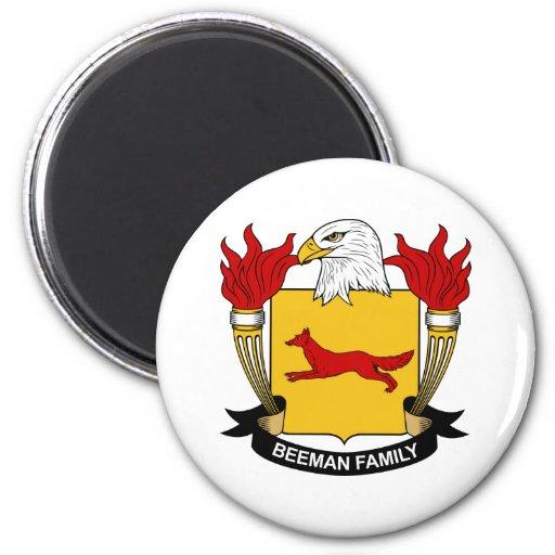 Escudo de la familia de Beeman Imán Para Frigorífico