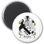 Escudo de la familia de Beeston Imanes Para Frigoríficos