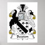 Escudo de la familia de Beeston Impresiones