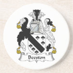 Escudo de la familia de Beeston Posavasos Manualidades