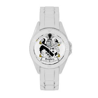 Escudo de la familia de Beeston Relojes