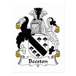 Escudo de la familia de Beeston Tarjeta Postal