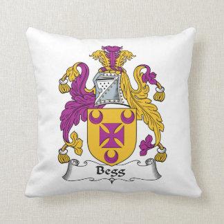 Escudo de la familia de Begg Almohada