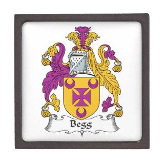 Escudo de la familia de Begg Caja De Recuerdo De Calidad