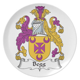 Escudo de la familia de Begg Plato De Comida