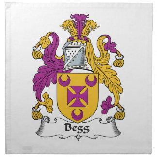 Escudo de la familia de Begg Servilleta Imprimida