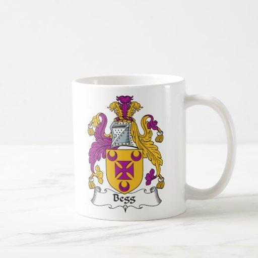 Escudo de la familia de Begg Tazas