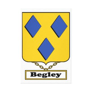 Escudo de la familia de Begley Impresiones De Lienzo