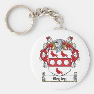 Escudo de la familia de Begley Llavero Redondo Tipo Pin