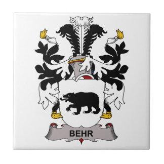 Escudo de la familia de Behr Azulejos Cerámicos