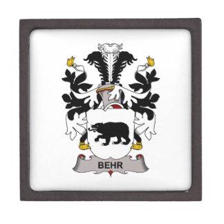 Escudo de la familia de Behr Caja De Regalo De Calidad