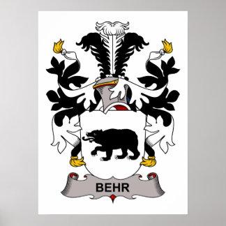 Escudo de la familia de Behr Impresiones