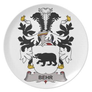 Escudo de la familia de Behr Plato De Comida