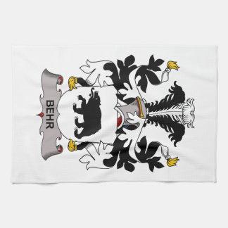 Escudo de la familia de Behr Toalla De Mano