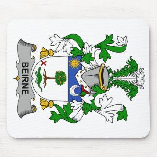 Escudo de la familia de Beirne Alfombrilla De Ratones
