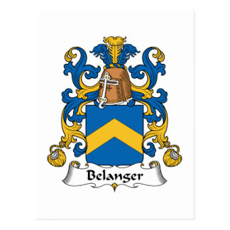 Escudo de la familia de Belanger Postal