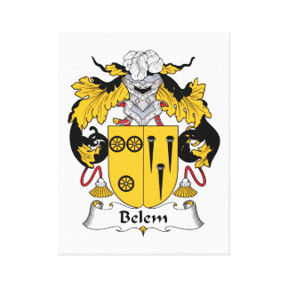 Escudo de la familia de Belem Impresión En Lienzo