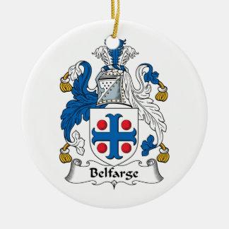Escudo de la familia de Belfarge Adorno Redondo De Cerámica