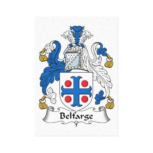 Escudo de la familia de Belfarge Impresión En Lienzo Estirada