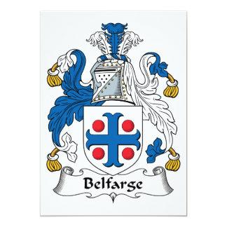"""Escudo de la familia de Belfarge Invitación 5"""" X 7"""""""