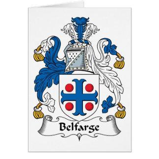 Escudo de la familia de Belfarge Tarjeta De Felicitación