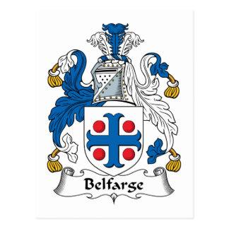 Escudo de la familia de Belfarge Tarjeta Postal