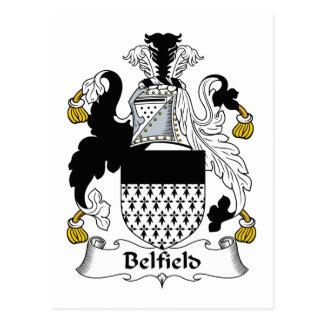 Escudo de la familia de Belfield Tarjeta Postal