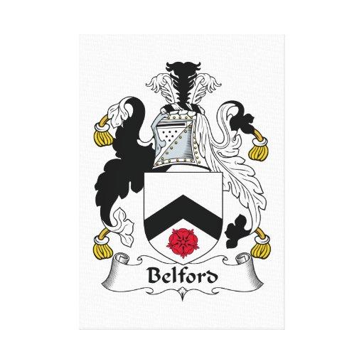 Escudo de la familia de Belford Lienzo Envuelto Para Galerias