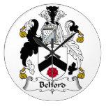 Escudo de la familia de Belford Reloj De Pared