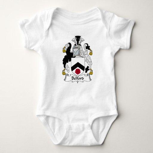 Escudo de la familia de Belford T-shirts
