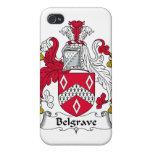Escudo de la familia de Belgrave iPhone 4 Fundas