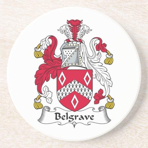 Escudo de la familia de Belgrave Posavasos Diseño