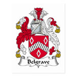 Escudo de la familia de Belgrave Postal