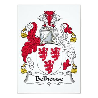 """Escudo de la familia de Belhouse Invitación 5"""" X 7"""""""