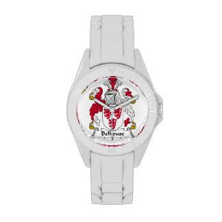 Escudo de la familia de Belhouse Relojes