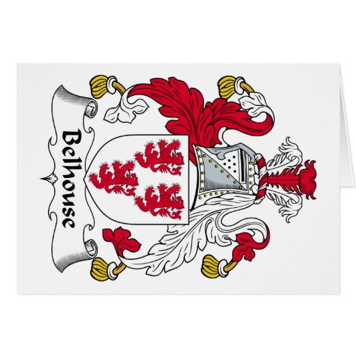 Escudo de la familia de Belhouse Tarjeta De Felicitación