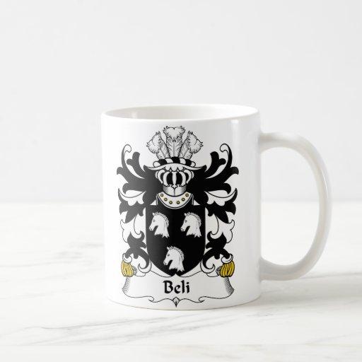 Escudo de la familia de Beli Taza Básica Blanca