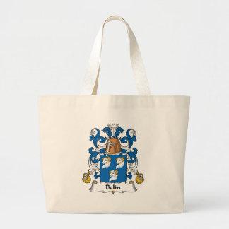 Escudo de la familia de Belin Bolsa De Tela Grande