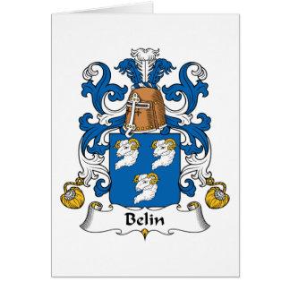 Escudo de la familia de Belin Tarjeta De Felicitación
