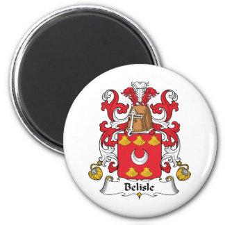 Escudo de la familia de Belisle Imán Redondo 5 Cm