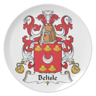 Escudo de la familia de Belisle Platos De Comidas