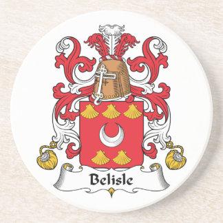 Escudo de la familia de Belisle Posavasos Para Bebidas