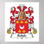 Escudo de la familia de Belisle Poster