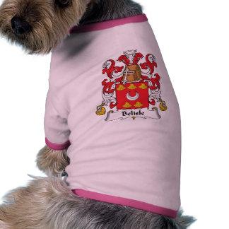 Escudo de la familia de Belisle Ropa Perro