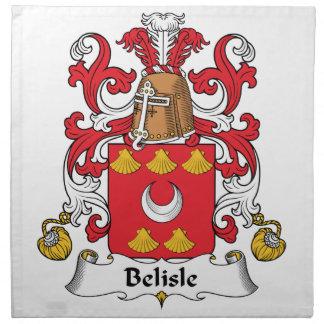 Escudo de la familia de Belisle Servilleta De Papel