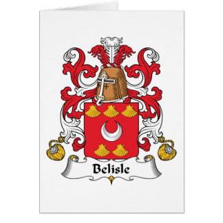 Escudo de la familia de Belisle Tarjeta De Felicitación