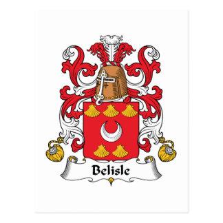 Escudo de la familia de Belisle Tarjetas Postales