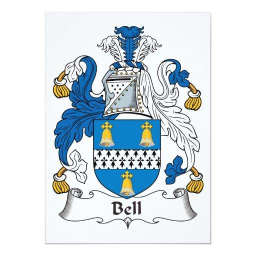 """Escudo de la familia de Bell Invitación 5"""" X 7"""""""