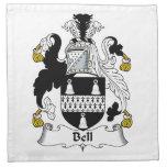 Escudo de la familia de Bell Servilletas Imprimidas