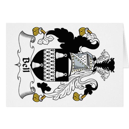Escudo de la familia de Bell Tarjeta De Felicitación